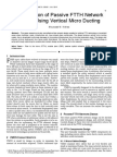Optimization of Passive FTTH Network Design Using Vertical Micro Ducting