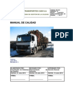 Manual de Calidad Transportes Can S.A
