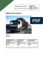Manual de Calidad Transportes Can S.A