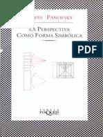 Panofsky E - La Perspectiva Como Forma Simbolica