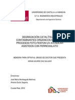 DEGRADACIÓN CATALÍTICA DE CONTAMINANTES ORGÁNICOS MEDIANTE PROCESOS FOTO-FENTON UV-A/C/SOLAR ASISTIDOS CON FERRIOXALATO