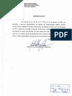 Parecer - Oficio Douglas Fabiano de Melo