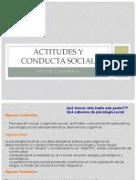 Actitudes y Conducta Social