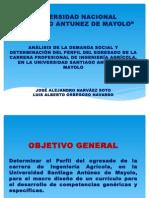 Demanda Social de La Ia. Chiclayo
