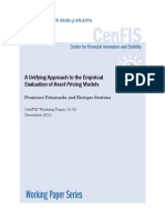 2010 10 03- An Unifying Approach to the Empirical Evaluation of Asset Pricing Model - Peñaranda, Sentana