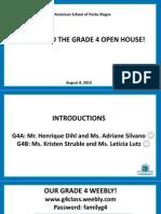 open house - grade 4