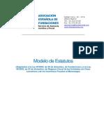 Modelo Estatutos de La Fundación.