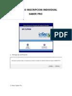 Proceso Inscripción Saber Pro Individual Noviembre 2015