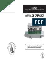 Manual Fr1000 Maquina Selladora