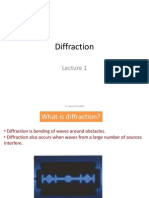 Diffraction Lecture 1