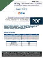 ValuEngine Weekly Newsletter August 7, 2015