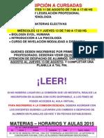 Materias Electivas Segundo II 2015