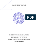 Manual Of Modern Physics Experiment
