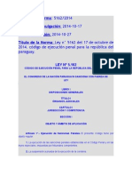 Codigo de Ejecucion Penal 2015