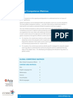 global competence content-area matrices