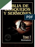 Biblia de Bosquejos y Sermones Romanos Vol 7 x Eltropical