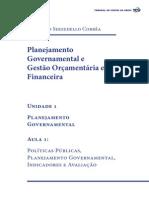 Planejamento Governamental Unidade 1 Aula1 2015