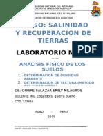laboratorio de salinidad