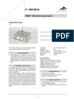 Wave Demonstrator, Vibration Generator and Accessories