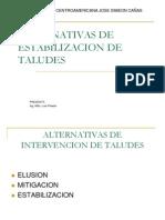 Alternativas de Estabilizacion de Taludes