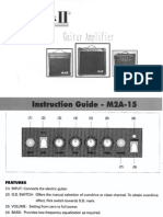 M2A-15 Guitar Amp Manual