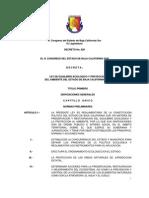 Ley de Equilibrio Ecologico y Proteccion Del Ambiente Del Estado de Baja California Sur