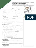 Biology Notes Outline for Chromosomes