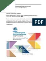 Invitación Acto de Juramentación JRV 2015 - JRV Distrito Central, TSE Guatemala