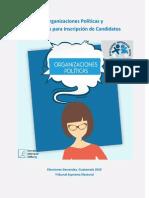 Organizaciones Políticas y Requisitos para Inscripción de Candidatos