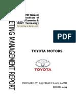 Toyota Corolla Marketing Plan Authentic..
