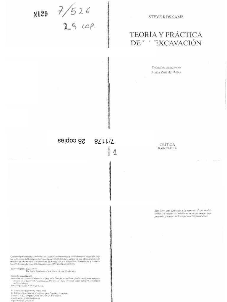 Roskams Teoria y Practica de La Excavacion Cap 10 y 13