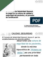 Modelo Del Csg Para La Atencion en Salud Con Calidad y Se