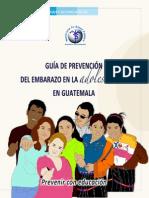 Guia Prevención en Embarazo en Adolescentes Guatemala
