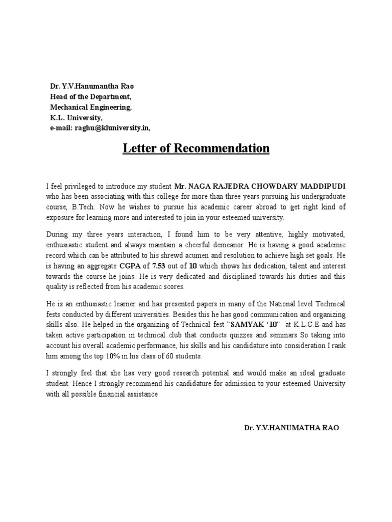 Letter of recommendation mitanshu Choice Image