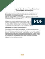 Resistencia Ao Fogo de Vigas de Madeira Lamelada Colada Com Chapa de Reforço Interna