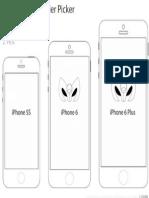 iPhone 6 Size Máscara