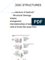 Geologic Structure Fold and Fault