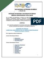 Convocatoria Maestria ENES 2014