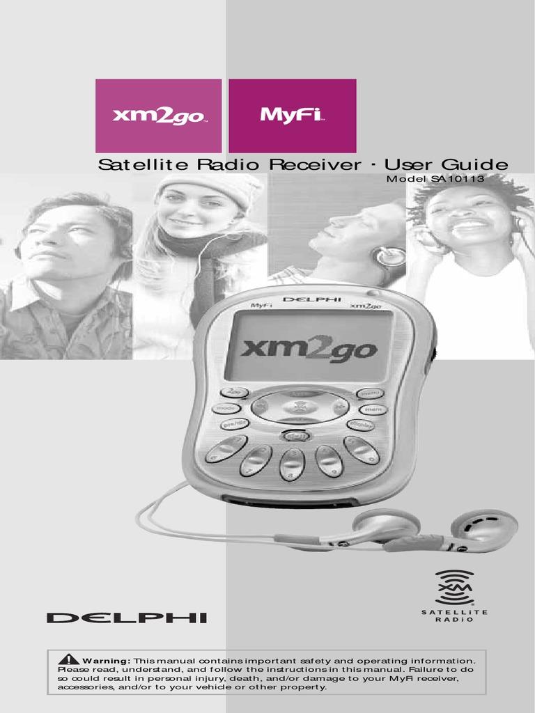 delphi myfi xm2go portable xm satellite radio manual radio rh scribd com  delphi myfi xm2go manual