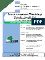 HVCASA Parent Awareness Workshop