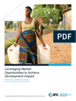 Leveraging Market Opportunities to Achieve Development Impact