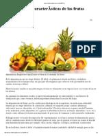 Propiedades y Caracteristicas de Las Frutas
