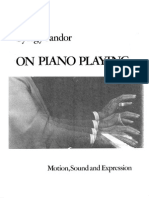Gyorgy Sandor on Piano Playing - Motion,Sound and Expression