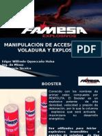 Manipulación de Accesorios de Voladura y Explosivos - FAMESA 01