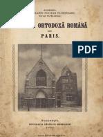 Biserica Ortodoxă Română Din Paris - Cu o Introducere Asupra Relaţiunilor Franco-române