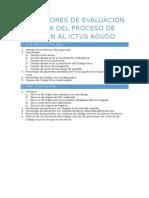 Indicadores de Evaluación y Mejora Del Proceso de Atención Al Ictus Agudo
