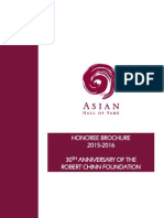 2016 Asian Hall of Fame Honoree Brochure