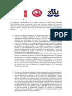 Escrito Plazas Secretarios Judiciales de Los Tres Sindicatos
