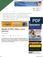 07-08-15 Manlio al PRI y Marco dará informe