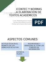 Normas Apa y Normas Icontec